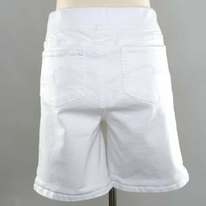 Justice Shorts - Justice Sz 18 White Fabric Drawstring Long Shorts